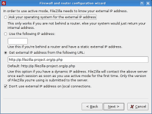 Network configuration wizard