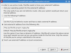 Network configuration wizard