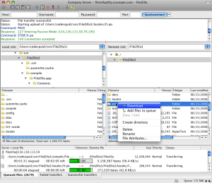 filezilla pour mac 10.7